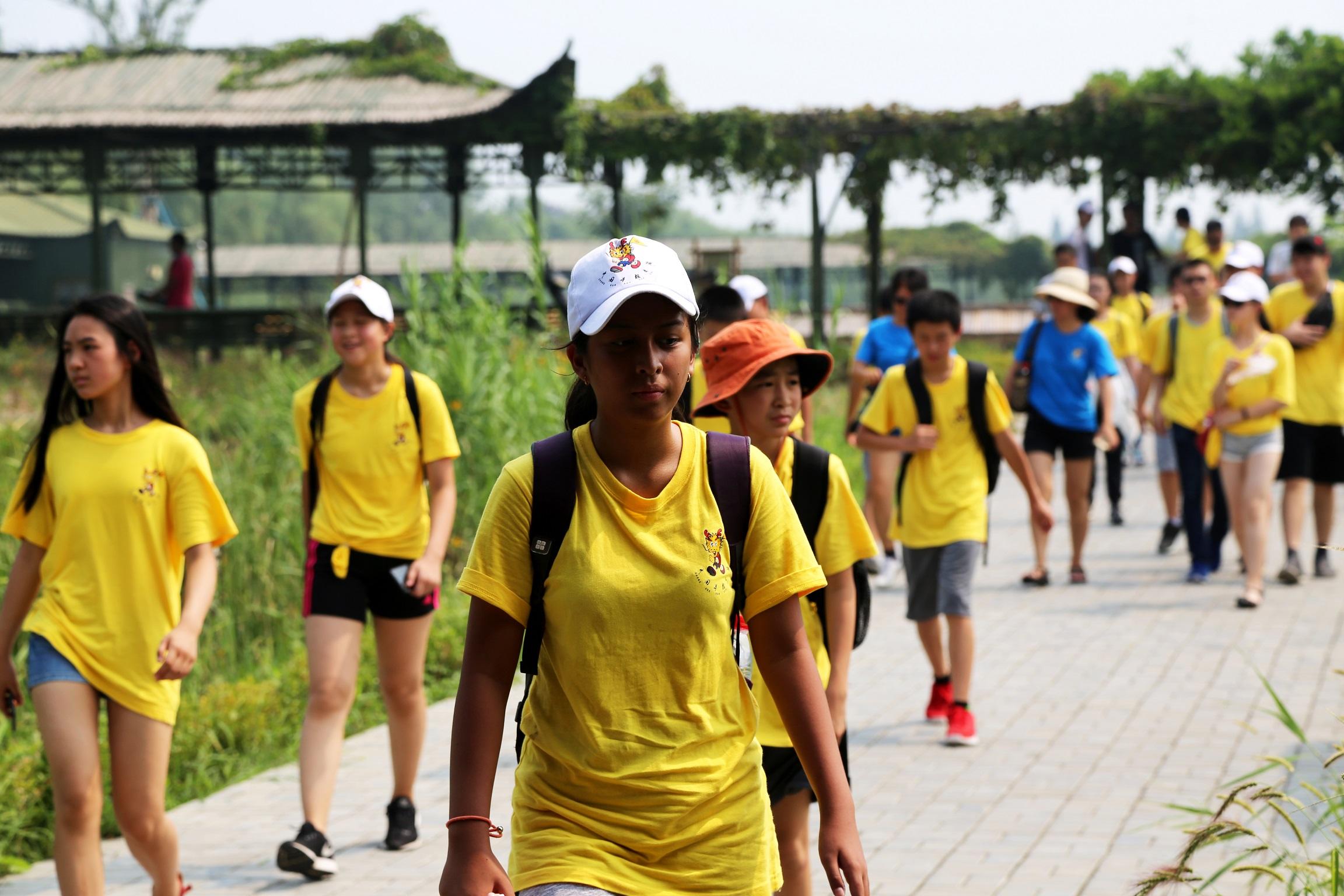 【寻根之旅】海外华裔青少年畅游洪泽湖湿地景区
